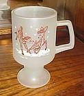 Vintage TIara frosted Bambi deer pedestal mug