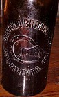 Old Buffalo Brewing Co Quart amber beer bottle Sacramento CA