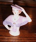 Beautiful pottery Pincushion doll lady