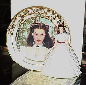 Ruffles and lace Reflections of Scarlett Plate figurine Bradford Exch