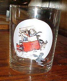 Norman Rockwell Saturday Evening Post glass  Soapbox Racer Jan 9 1926