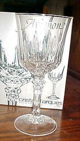 Avignon by Cristal D'Arques-Durand tall water goblet France