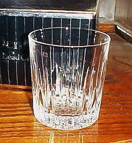 Denby Crystal double old fashioned glass Washington pattern 1986-1987