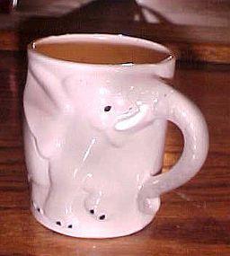 Vintage ceramic childs mug or cup elephant