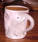 Vintage ceramic childs mug or cup elephant
