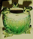 Vintage planter with 6 frogs Asian