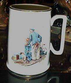 The Seafarer's tankard collection  Looking out to Sea Norman Rockwell