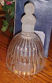 First annual Goebel frosted crystal Christmas bell 1978 MIB