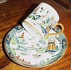 Crown Staffordshire Chinese Willow demitasse cup and saucer set 5356