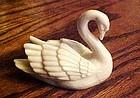 Lenox ivory swan place card holder