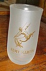 Vintage Remy Martin frosted cognac glass with gold logo 8 oz