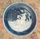 Incolay Isle of Calypso cameo plate from Voyage of Ulysses collection