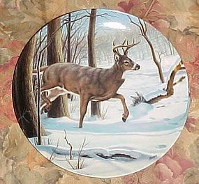 Dominion China Wild and Free Canadas big game plate White tailed Deer
