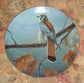 Knowles Majestic Birds series limited ed plate The American Kestrel