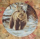 Wild and Free Canada's Big Game series plate, The Grizzley Bear MIB