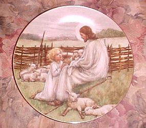 The Lord is my Shepherd collectors plate Beloved hymns of childhood