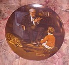 Knowles Norman Rockwell Heritage collection plate The Tycoon MIB