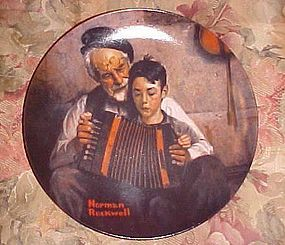 "Norman Rockwell Heritage Collection plate "" The Music Maker"" MIB"