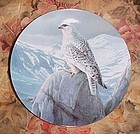 Knowles Magestic Birds series plate The White Gyrfalcon Daniel Smith