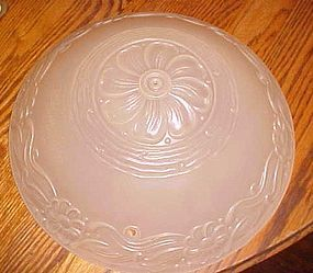 Vintage white frosted ceiling light shade with daisy decoration 3 hole