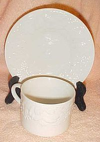 Tabletops unlimited Fruit De Blanc white cup and saucer set