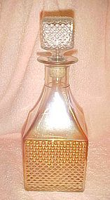 Vintage Old Forester marigold carnival decanter Diamond hobnail