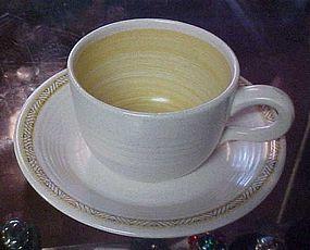 Franciscan Hacienda Gold cup and matching sauver