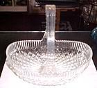 Pretty Mikasa glass basket diamond quilt pattern