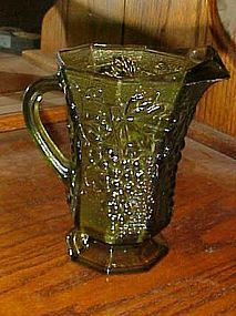 Vintage green harvest grape pitcher by Anchor Hocking