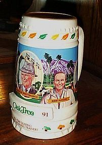 1991 Oak Tree Racing limited Edition stein commemorationg 5 trainers