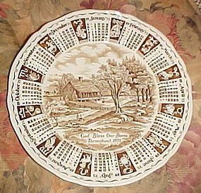 Alfred Meakin 1975 God Bless Our House Calendar plate with Zodiac