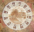 Alfred Meakin 1976 GOd Bless our House Calendar plate with zodiac