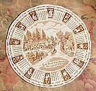 Alfred Meakin 1978 God Bless Our House Calendar plate with Zodiac