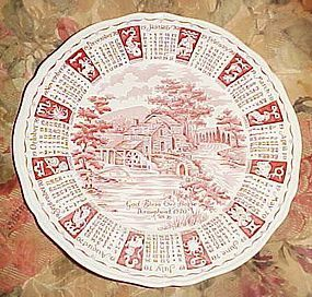 Alfred Meakin 1970 God Bless Our House Calendar plate with Zodiac