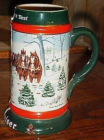 "1991 Budweiser Holiday Stein""  The Seasons Best by Susan Sampson"