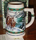 "1993 Budweiser Holiday stein ""Special Delevery"" in box"