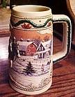 1996 Budweiser American Homestead  Holiday beer stein