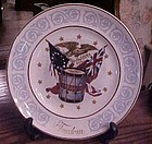 Avon Freedom collector plate by Wedgewood Bi-centennial