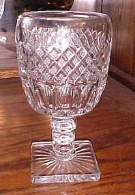 Westmoreland Wakefield Irish Waterford  crystal water goblet 6 1/2""