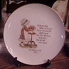 Holly Hobbie Mother's Day 1975 Commemorative edition Plate