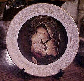 Adoration collectible plate by Boehm artist Juan Ferrandiz Castells