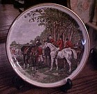 J.F. Herring  Famous Hunt scenes plate  England