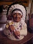 Beautiful Native American Indian Chief cookie jar