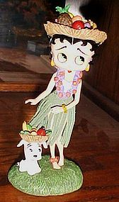 Collectible Betty Boop Hawaiian Holiday figurine MIB Danbury Mint