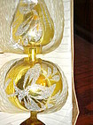 Vintage Kresge gold blown glass tree topper original Box  Bavaria