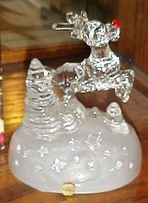 Cristal d Arques Rudolph musical crystal figurine in box