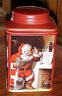 Sakura Coca Cola Santa cookie jar canister Holiday portraits Santa