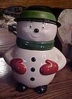 Rare Diamond Walnut Growers advertising Snowman cookie jar 1997