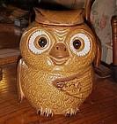Vintage McCoy #204 owl cookie jar perfect