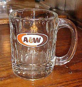 "VIntage A&W Rootbeer mug oval logo circa 1968 4 1/4"""